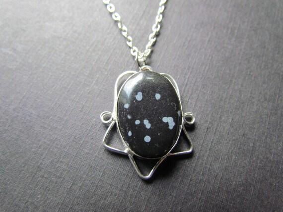 Obsidian Necklace - Bl...