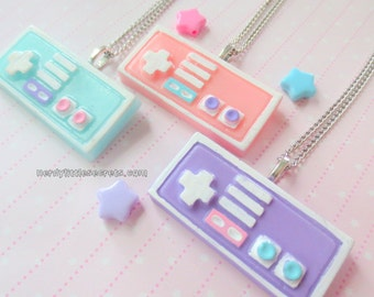 Pastel Mini Nintendo Controller Necklace (Choose One)