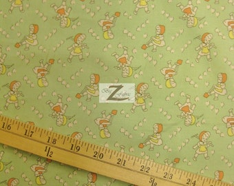 """Baby Raised Garden By South Sea Imports 100% Cotton Fabric - 45"""" Width Sold By The Yard (FH-289)"""