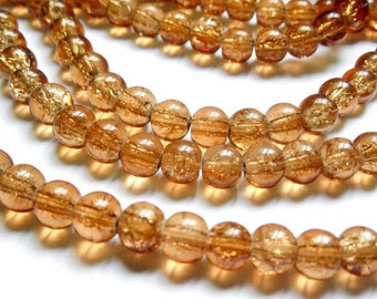 40 Brown Glass Beads - 28-18