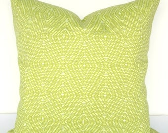 Green PILLOWS Lime green Indoor Outdoor Pillow Covers Green Throw Pillows Outdoor Throw pillow covers 18x18 Citron Tropical Home and Living