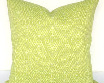 PILLOWS Lime green Indoor Outdoor Decorative Throw Pillows Outdoor Throw pillow covers 18x18 Citron Tropical Home and Living