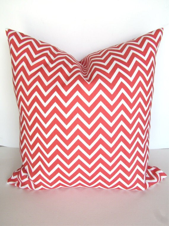 Small Coral Throw Pillows : Items similar to CORAL PILLOWS SALE. Coral Decorative Throw Pillow Covers Chevron Coral Pillow ...