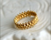 SALE Gold Delicate Patterned Band