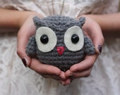 Crochet Owl - Grey (Ready to Ship)