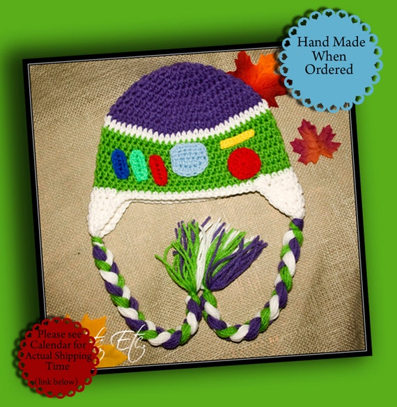 Crochet Hat inspired by Buzz Lightyear
