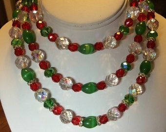 Christmas Triple Necklace