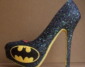 Batman Glittered High Heels