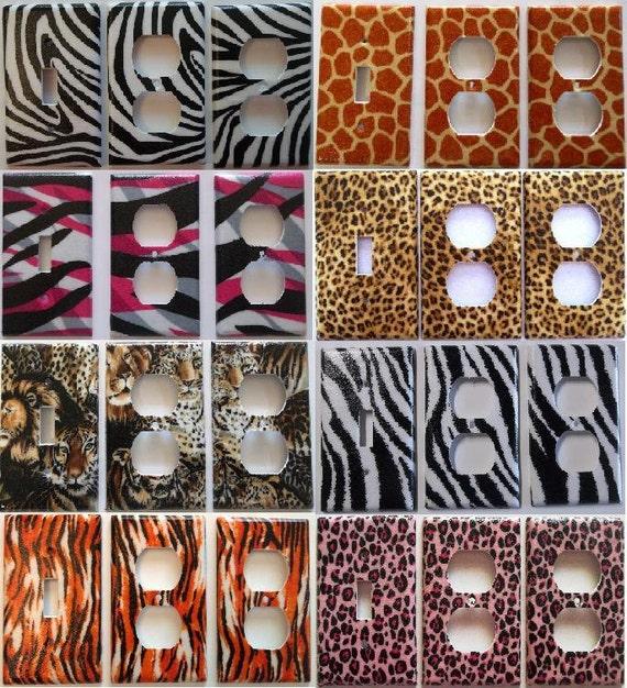 Leopard Bedroom Decorating Ideas: Items Similar To Zebra Giraffe Pink Leopord Tiger Animal