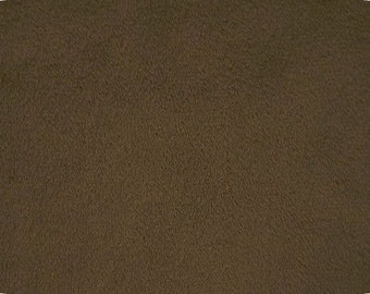 """BROWN craft size minky fabric, 9"""" x 15"""" piece of cuddle fabric by Shannon Fabrics for quilting, crafts, sewing, costumes, doll making"""