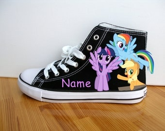 Hand Painted Children My Little Pony Shoes Princess