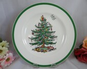 Spode Made in England Christmas Tree Dinner Plates - 9 Available