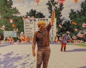 Hiro Yamagata Signed Print , Jack's Win at US Open 1980