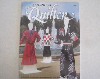 American Quilter Magazine Spring 1989, Vol V, No. 1