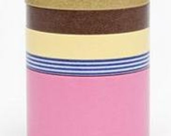 mt new suite Masking Tape /  Japanese Washi Masking Tape / mt new suite N / MT05S014 / 5 roll of set