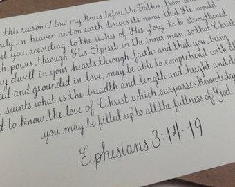 Custom Verse/Quote Handwritten in Calligraphy