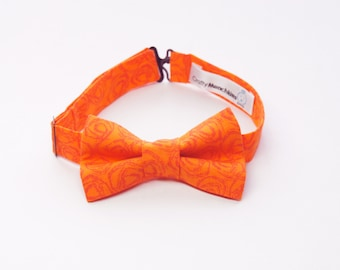 Bow Tie - Orange with Swirls Bowtie