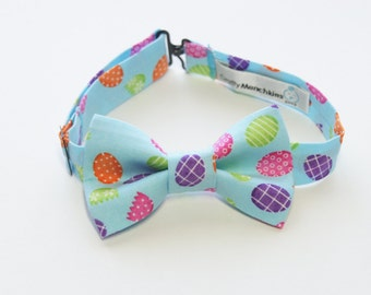 Bow Tie - Light Blue with Eggs Bowtie