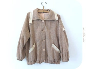 Vintage light brown jacket, vintage light brown coat
