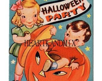 Halloween Party Invitation Digital Image