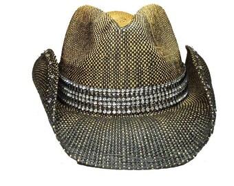 Industrial bling cowboy hat