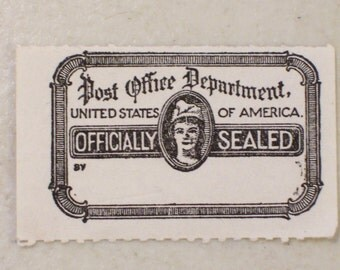 1950 Post Office Dept Officially Sealed Stamp