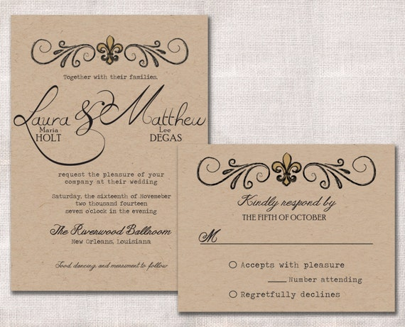 Fleur De Lis Wedding Invitations - Trendy New Designers
