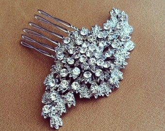 Rhinestone Wedding Haircomb
