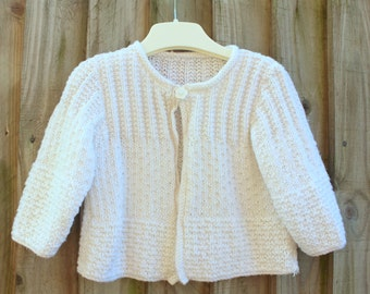 Hand knitted Baby Cardigan. Hand knitted baby sweater. Girls cardigan girls sweater. Hand knits for babies