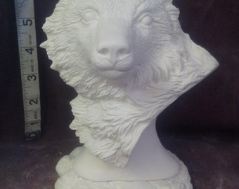 "Nowells Wolf Bust 5"" ready to paint"