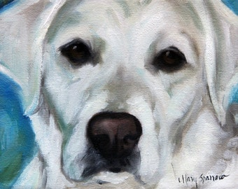 PRINT Yellow Labrador Retriever Lab Dog Puppy Art Print / Mary Sparrow from Hanging the Moon Studio