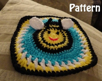 Bumble Bee Granny Square Pattern Instant Download PDF File