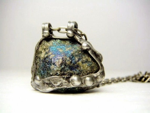 Jewelry by AMW PEACOCK Ore Necklace Raw Chalcopyrite
