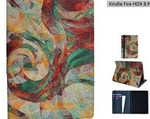 """Kindle Fire HD 7 2013 / Kindle Fire HDX 8.9 case from Create&Case """"Rapt"""" stylish, unique colourful Kindle Fire case multicoloured marble"""