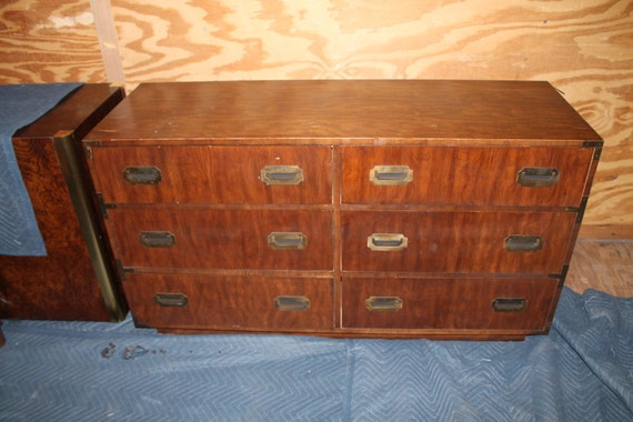Vintage Campaign Campaigner By Dixie Furniture By