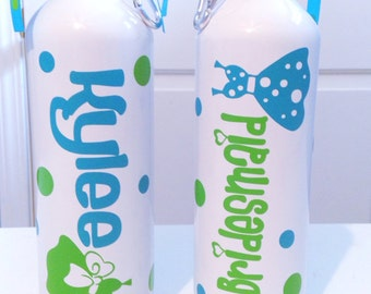 Personalized Bridesmaid Wedding Water Bottle