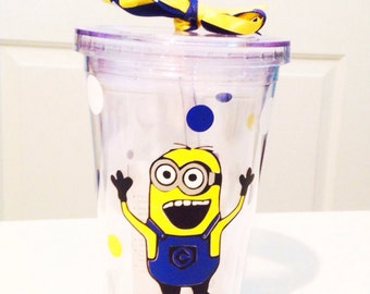 Personalized Minion Tumbler Cup Glass