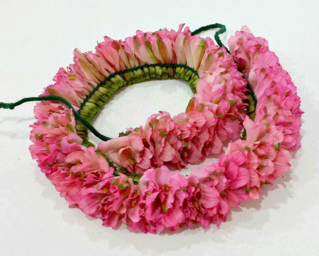 Hawaiian Haku Floral Leis Party Luau Flower