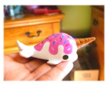 PREORDER-Kawaii cute ice cream Narwhal