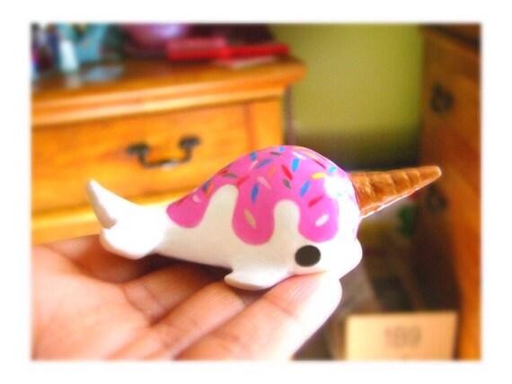 PREORDER-Kawaii cute ice cream Narwhal