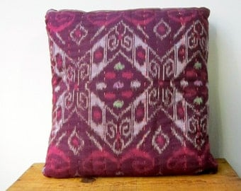 Quilted Ikat Pillow