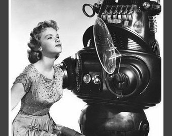 Fridge Magnet vintage Robby the Robot from Forbidden Planet with Anne Francis