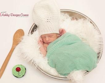 Crochet Baby Chef Hat Pattern Free : Crochet chefs hat Etsy