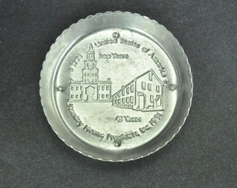 Stanley Home Products Set of 3 Round Aluminum Coasters 45th Anniversary Souvenir Bicentennial 1976