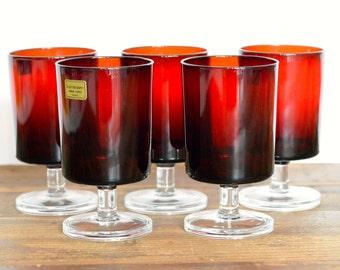 Luminarc 'Cavalier' French wine glasses, set of five