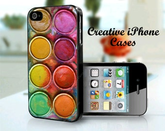 Watercolor Set Paintbox iPhone 4 Case iPhone 4S Case iPhone 5 Case iPhone 5S Case Best iPhone Cover