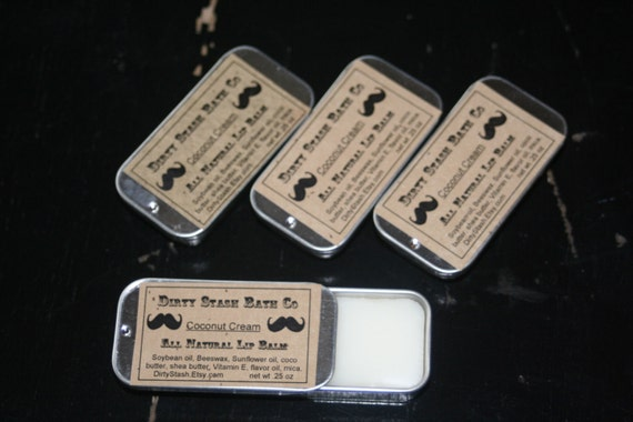 3 Natural Lip Tins made with Organic ingredients .25 Mint Variety