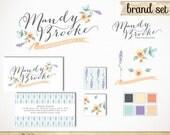 Premade Branding Package with Business Card / Custom Logo, Website Pattern, Watermark