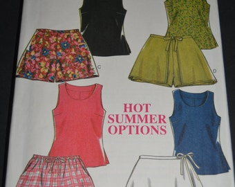 New Look 6497 Womens Top and Shorts Sewing Pattern - UNCU T- Size 6 - 16