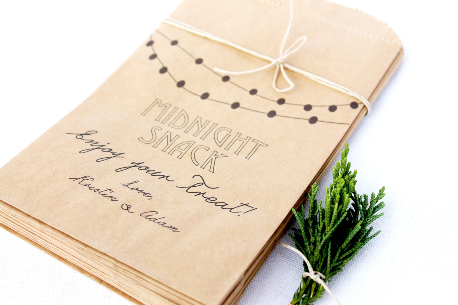 25 Customized Wedding Candy Bar Bags With Midnight By Paracosm